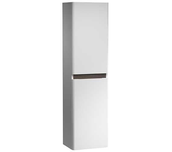 Tavistock Equate 300mm White-Grey Oak Tall Storage Unit - EQ3CWA