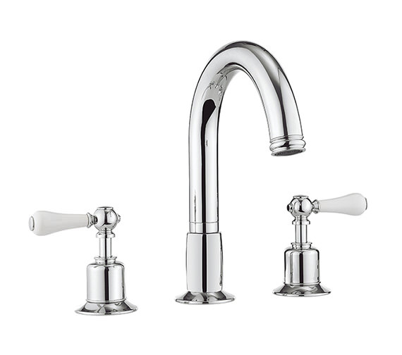 Crosswater Belgravia Lever Chrome 3 Hole Bath Filler Tap