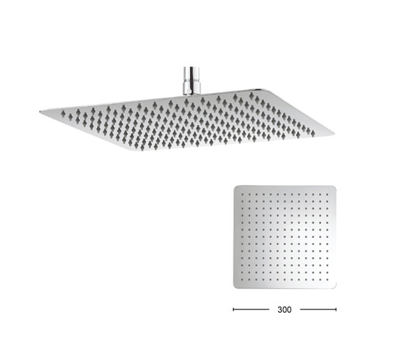 Alternate image of Crosswater Glide 200mm Wide Square Fixed Shower Head