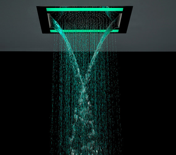 Crosswater Rio Revive Shower Head With Lights And Double Waterfall