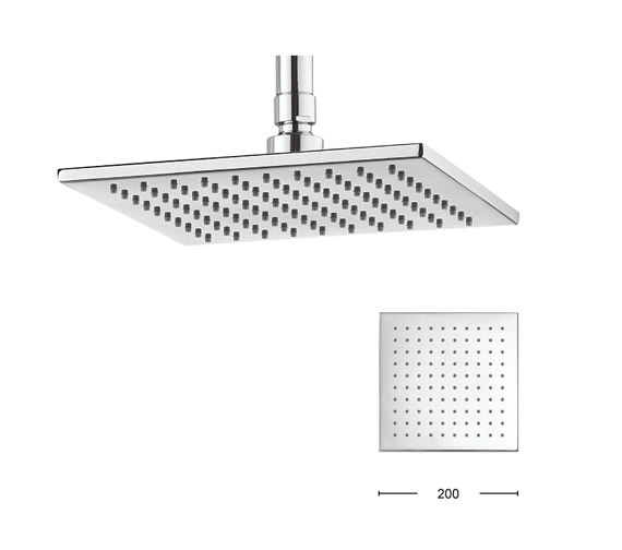 Crosswater Zion 200mm Square Fixed Shower Head