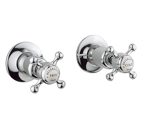 Crosswater Belgravia Wall Mounted Stop Taps With Crosshead Handle