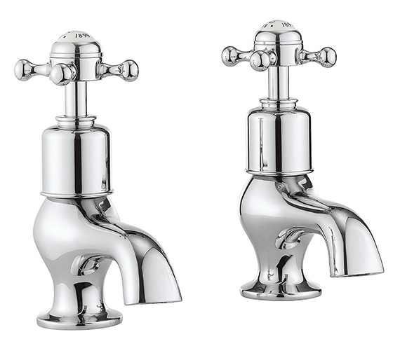 Crosswater Belgravia Pair Of Bath Pillar Taps With Crosshead Handle
