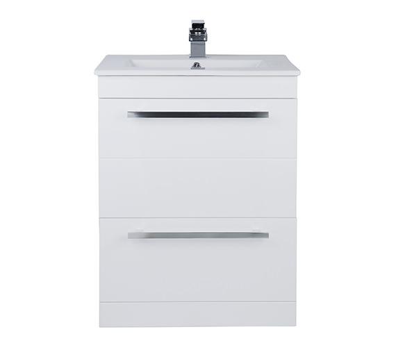 Beo Warner 600mm Floor Standing 2 Drawer Vanity Unit And Basin
