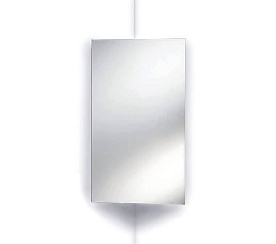 Beo Rosa Stainless Steel Corner Mirrored Cabinet 380 x 650mm