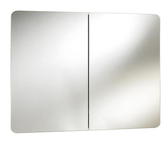 Beo Brandon Double Door Mirrored Cabinet 800 x 500 x 120mm