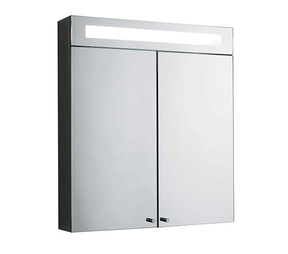 Beo Sidley Double Door Mirrored Cabinet With Light 700 x 620mm