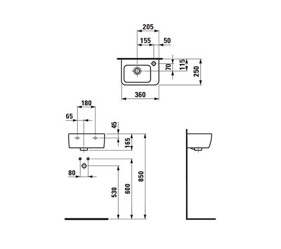 Technical drawing QS-V41905 / 8.1695.5.000.106.1