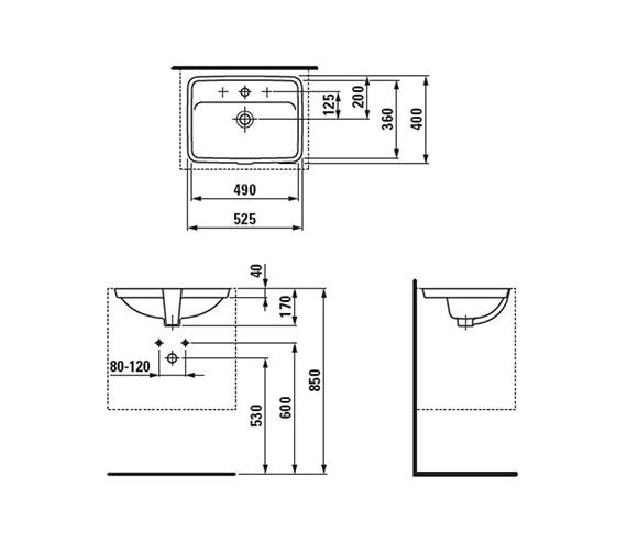 Technical drawing QS-V41916 / 8.1196.6.000.109.1