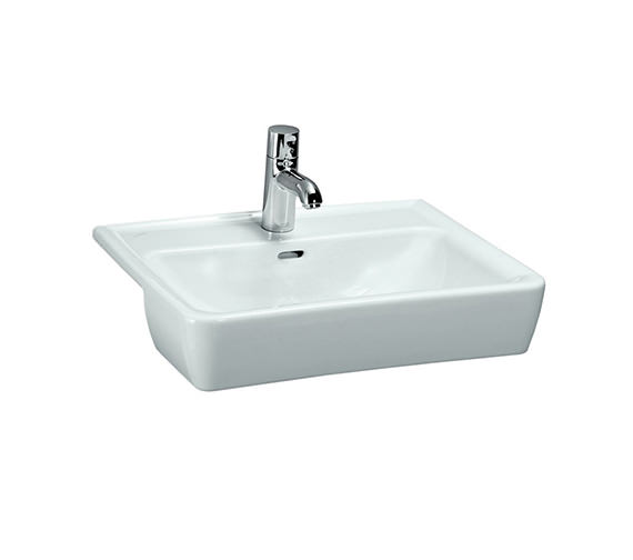 Laufen Pro A 560 x 440mm Semi Recessed Basin With 1 Tap Hole