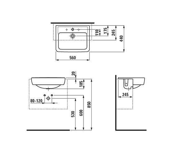 Technical drawing QS-V41919 / 8.1296.1.000.104.1