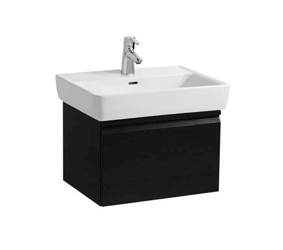 Laufen Pro 600 x 380mm Single Drawer Wall Hung Vanity Unit Wenge