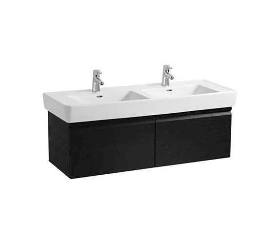 Laufen Pro 1220mm Double Drawer Wall Hung Vanity Unit Wenge