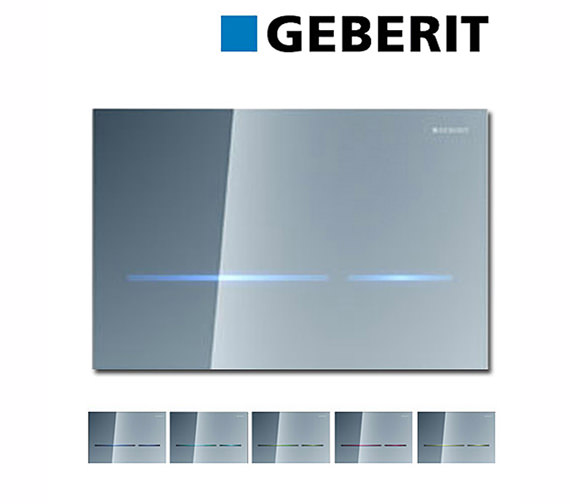 Additional image of Geberit Sigma80 Mirrored Glass Touchless Flush Plate For 8cm UP720 Cistern