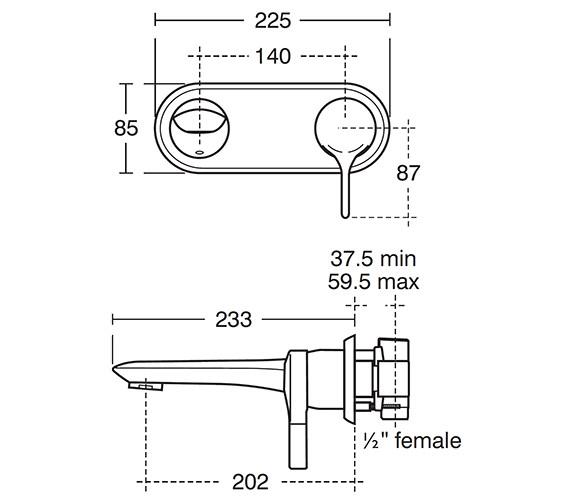 Technical drawing QS-V42011 / A4263AA