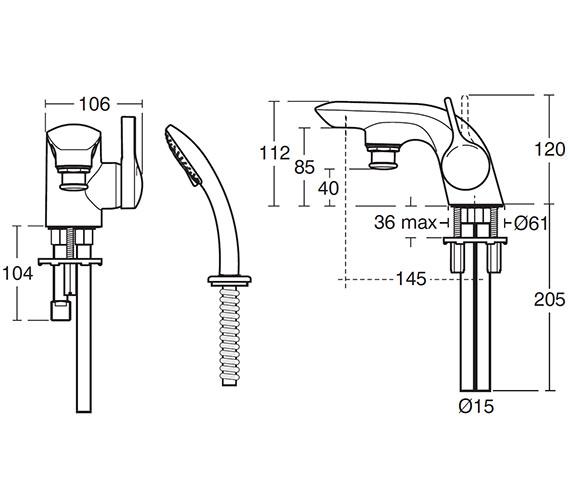 Technical drawing QS-V42013 / A4278AA