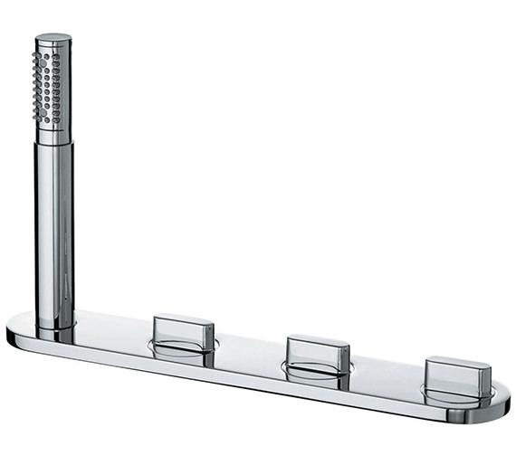 Ideal Standard Moments Dual Control Four Tap Hole Bath Shower Mixer Tap