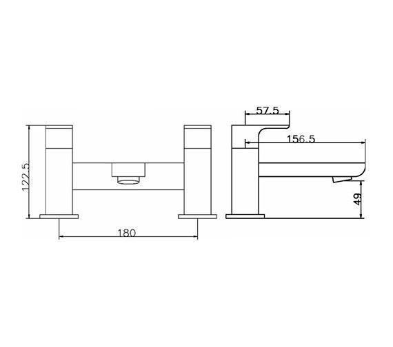 Technical drawing QS-V42043 / ART303
