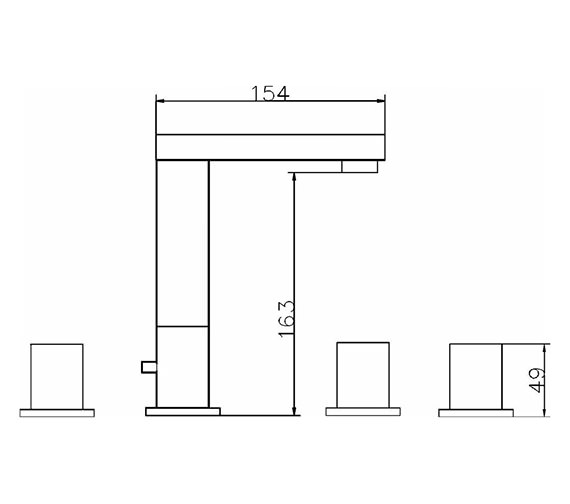 Technical drawing QS-V42052 / PA324