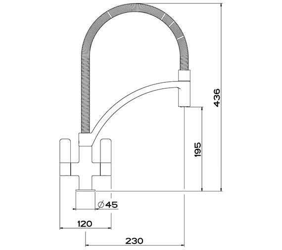 Technical drawing QS-V42110 / 1150277034