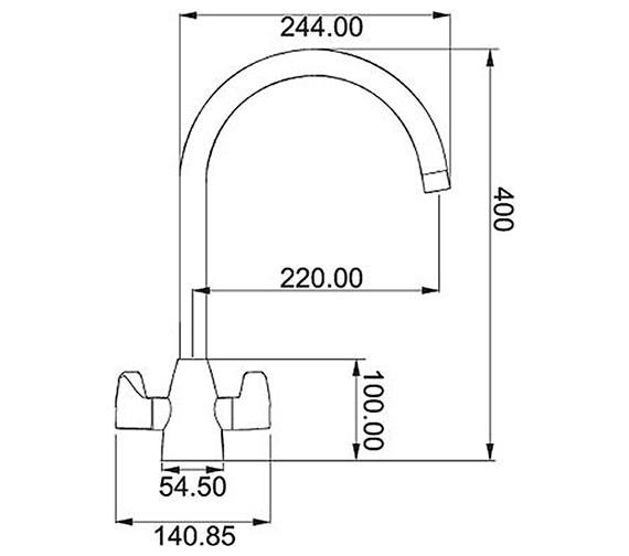 Technical drawing QS-V42115 / 1150050044