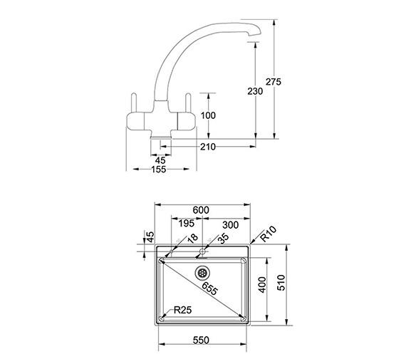 Technical drawing QS-V42125 / 1010364678