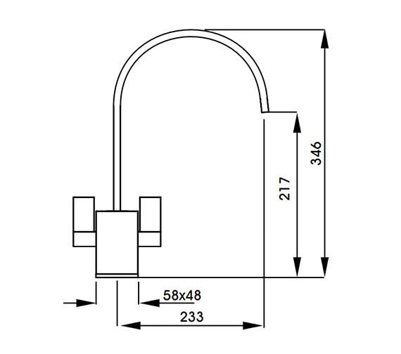 Technical drawing QS-V42133 / AT1148