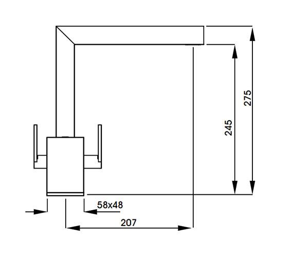 Technical drawing QS-V42137 / AT1158