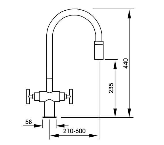Technical drawing QS-V42145 / AT1058