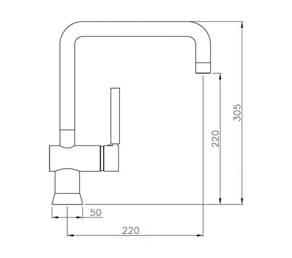 Technical drawing QS-V42153 / AT1055
