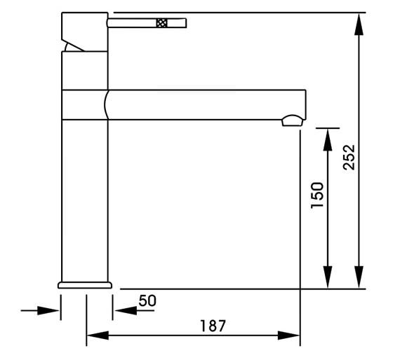 Technical drawing QS-V42155 / AT1088
