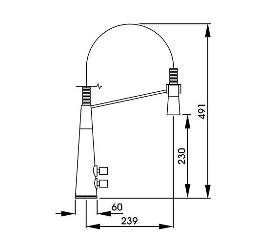 Technical drawing QS-V42161 / AT1153