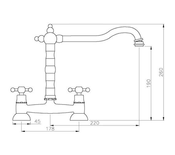 Technical drawing QS-V42179 / AT1045