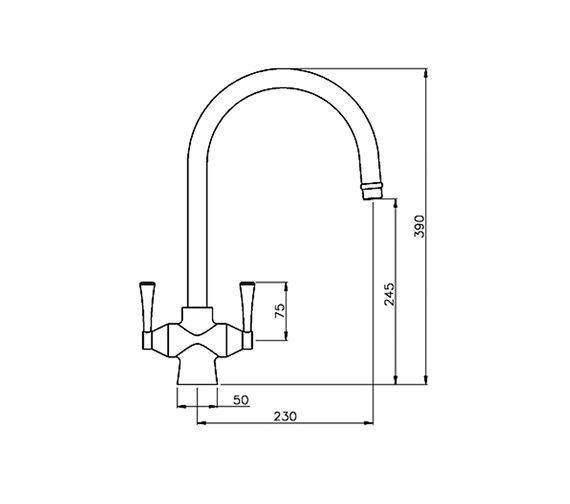 Technical drawing QS-V42190 / AT2005