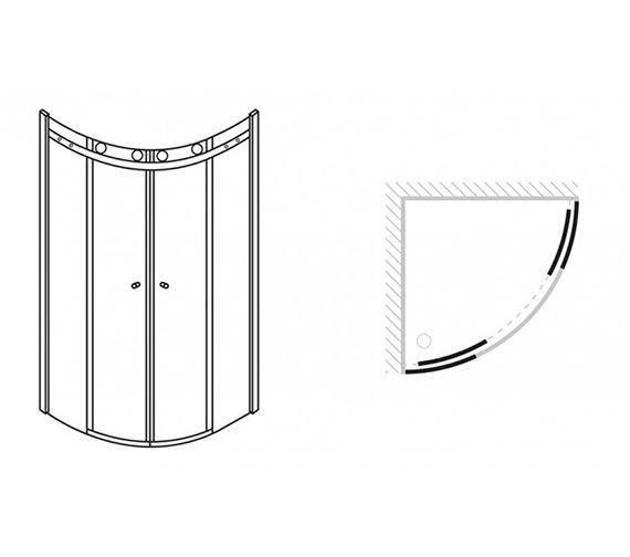 Technical drawing QS-V42202 / CQSSC0800
