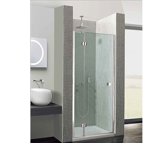 Simpsons Design 760mm Hinged Door With Inline Panel - DHDSC0760