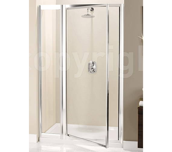 Simpsons Supreme Pivot Door With Inline Panel 1000mm - 7135-7114