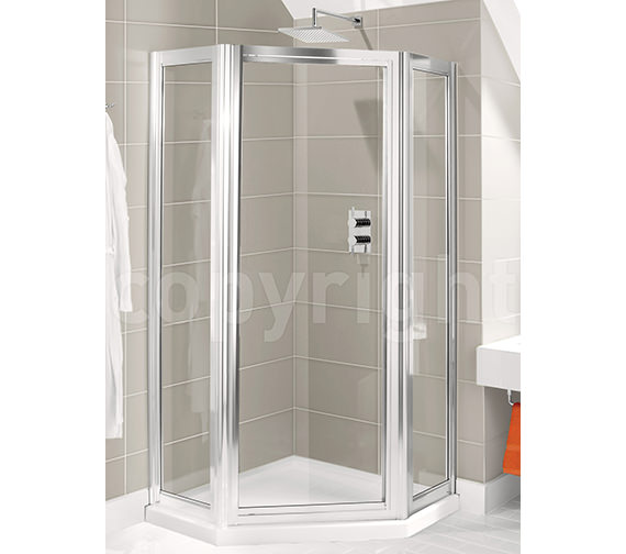 Simpsons Supreme Pivot Door Pentagon Enclosure 900mm - 7135-7156