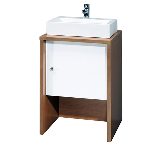 Aqva Ultra Washstand With White Door 500mm - VTY039