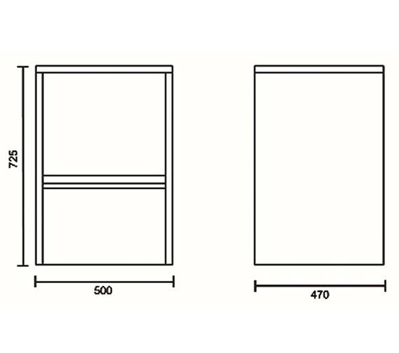 Technical drawing QS-V43100 / VTY039