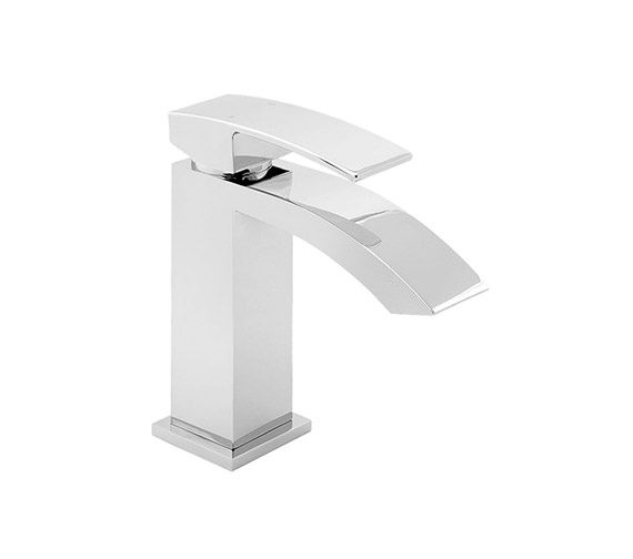 Deva Swoop Mono Basin Mixer Tap With Press Top Waste - SWO113