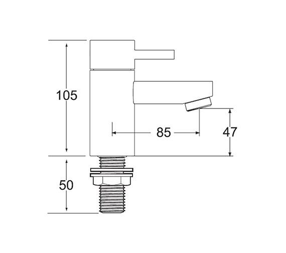 Technical drawing QS-V43183 / RUB 101