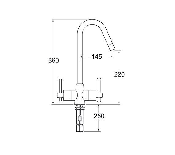 Technical drawing QS-V43237 / TAUR130