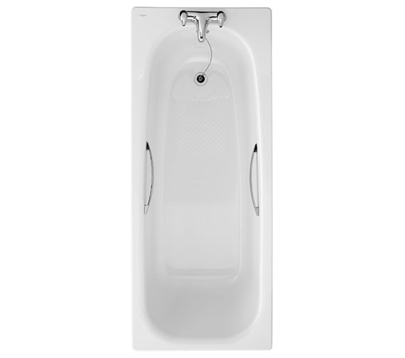 Twyford Assisted 1700 x 700mm Slip Resistant Steel Bath With Grips