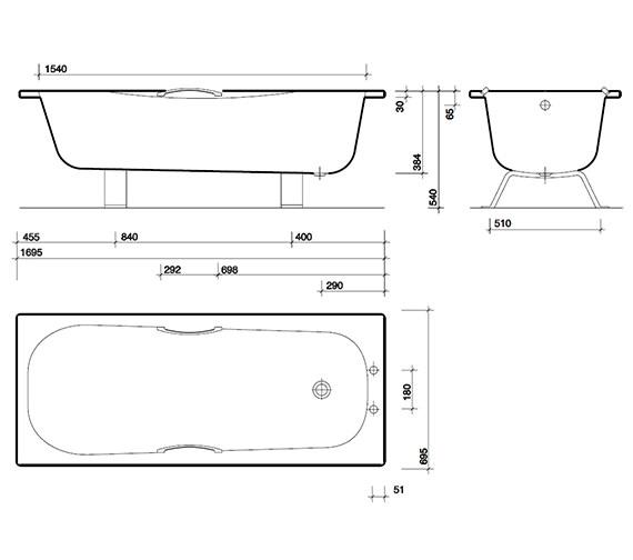 Technical drawing QS-V43293 / AS1170WA