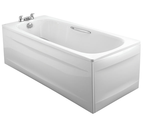 Alternate image of Twyford Celtic Plain Steel 2 Tap Hole Bath With Legs