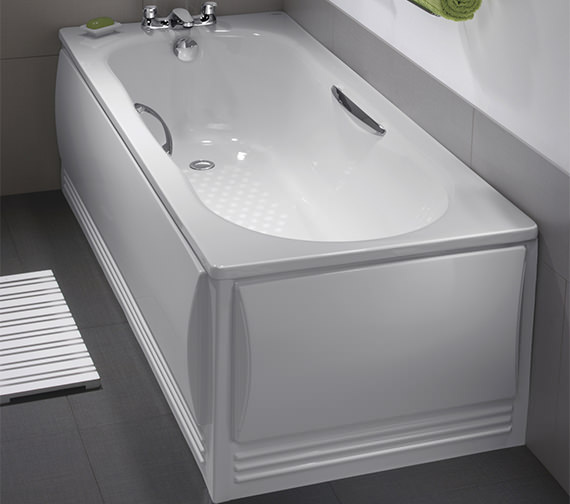 Twyford Celtic 1600 X 700mm Plain Steel Bath With Legs