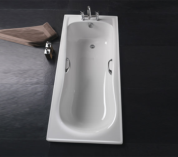 Additional image of Twyford Galerie Rectangular Acrylic Bath With Grips 1500 x 700mm