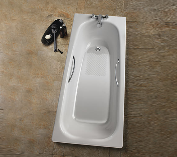 Additional image of Twyford Neptune 1700 x 700mm Slip Resistant Steel Bath - NE9590WH