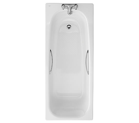 Twyford Shallow 1700 x 700mm Slip Resistant Steel Bath With Grips